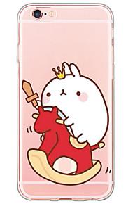tecknad kanin mönster TPU ultratunna genomskinligt mjukt bakstycket för den apple iphonen 6s 6 plus se / 5s / 5