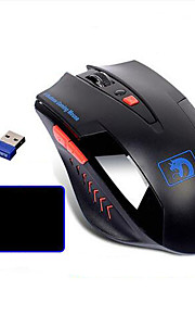 Wireless 2.4GHz 2400DPI Gaming Mouse and Mouse Pad 2 Pieces a Set