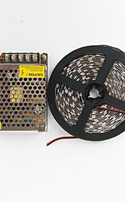 z®zdm 300x5050 75W 5red + 1blue / gruppe ledet ligh med 12v / 5a aluminiumskall kraft (AC100-240V)