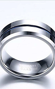 Ring,Band Rings,Jewelry Tungsten Steel Fashionable Daily / Casual Blue 1pc,7 / 8 / 9 / 10 / 11 / 12 Men