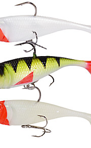 2pcs/lot Afishlure Paddle Tail Soft Lead Fish with Treble Hook 19g Artificial Plastic Lure Fishing Lure