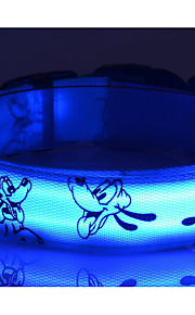 Perros Cuello / Correas Luces LED / Ajustable/Retractable / Lindo y mimoso / Diseño de Caricatura / Pilas incluidas / EstroboscopioRojo /