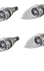3 E14 LED-lysestakepærer C35 1 Høyeffekts-LED 200-240 lm RGB Dekorativ AC 85-265 / AC 220-240 / AC 100-240 / AC 110-130 V 4 stk.
