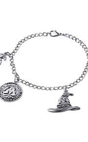 Bracelet Chain Charm Bracelet Silver-Stone Alloy for Fans Elf Love Bracelet Adjustable Birthday Gift Jewelry