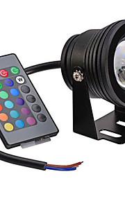 10 Festoon 水中ライト 埋込み式 1 集積LED 400 lm RGB 明るさ調整 / リモコン操作 / 装飾用 AC 12 V 1個
