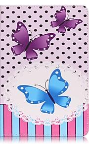 Ganzkörper Brieftasche / Kartenhalter Schmetterling PU - Leder Hart Fall-Abdeckung für Apple iPad Mini 4 / iPad Mini 3/2/1