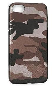 Skal Ultratunn Kamoflagefärg PU-läder Mjuk Fallet täcker för AppleiPhone 7 Plus / iPhone 7 / iPhone 6s Plus/6 Plus / iPhone 6s/6 / iPhone