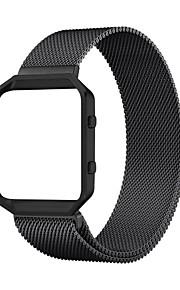 habitação armação de metal resistente com aço inoxidável banda pulseira pulseira loop de fechadura magnética milanese de incêndio Fitbit