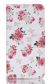 Ganzkörper Brieftasche / Kartenhalter / mit Ständer / Flip / Muster Blume PU - Leder Hart Fall-Abdeckung für Lenovo Lenovo A6000