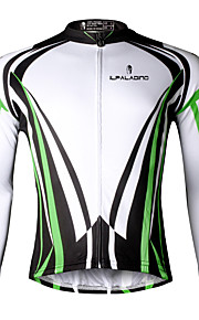 Ilpaladin Sport Men Long Sleeve Cycling Jerseys  CX710 Green Cool