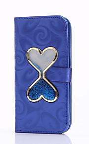 Ganzkörper Kartenhalter / Brieftasche / mit Ständer / Fließende Quicksand Flüssig Einheitliche Farbe PU - Leder Hart Fall-Abdeckung für