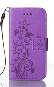 Full Body Wallet / Korttipaikka / telineellä / Embossed Kukka Tekonahka Kova Tapauksessa kattaa Samsung GalaxyS7 edge / S7 / S6 edge / S6
