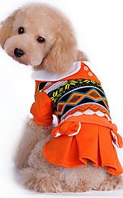 Cães Macacão Vermelho / Laranja / Verde Roupas para Cães Inverno / Primavera/Outono RiscasAniversário / Da Moda / Mantenha Quente / Dia