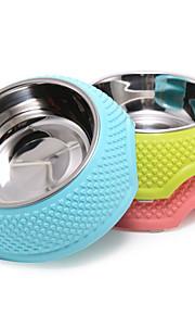 Кошка / Dog Миски и бутылки с водой Пластик / Нержавеющая сталь Компактность Зеленый / Голубой / Розовый