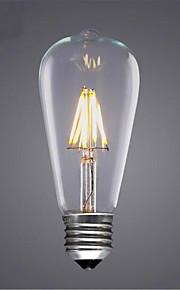 6W E26/E27 フィラメントタイプLED電球 ST64 6 SMD 5730 420 lm 温白色 / クールホワイト / イエロー 装飾用 V 1個