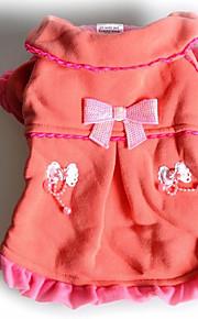 Cães Macacão / Vestidos Rosa Roupas para Cães Inverno / Primavera/Outono Riscas Da Moda / Mantenha Quente / Dia Das Bruxas / Natal /