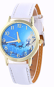 Girl Quartz Watch Clock Women Leather Casual Dress Women's Christmas Deer Wristwatch Cool Watches Unique Watches