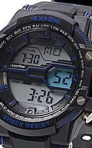 Masculino Relógio Esportivo / Relógio Militar / Relógio de Moda / Relógio de Pulso DigitalLED / LCD / Calendário / Cronógrafo /