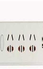 3-row plug Cabeada Others USB smart charging plug Branco