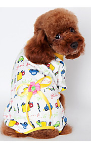 Dog Outfits / Pajamas Yellow / Blue / Pink Dog Clothes Winter / Spring/Fall Flower Keep Warm