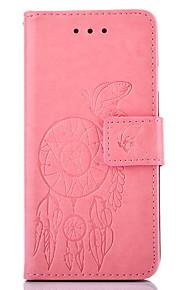 Cuerpo Completo billetera / Soporte de Tarjeta / con el soporte / Con Relieve Mariposa Cuero Sintético Duro Cubierta del caso paraSamsung