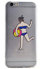 Coque Transparents / Motif Sexy Lady TPU Doux Couverture de cas pour Apple iPhone 6s Plus/6 Plus / iPhone 6s/6 / iPhone SE/5s/5