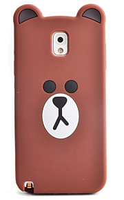 Cartoon Bear Pattern Phone Shell Silicone Material For Samsung Galaxy Note3 Note4 Note5 Note7