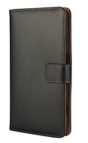 For nokia 6 funda de cuero de cuerpo sólido de cuero con cubierta de tarjeta y soporte nokia lumia 530 lumia 640 lumia 950