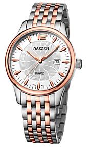 Masculino Relógio Elegante / Relógio de Pulso Quartz Calendário / Cronógrafo / Cronômetro / Noctilucente / / Aço Inoxidável Banda Casual