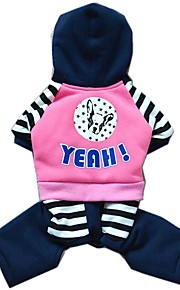 Casual Stripe Design Dogs Pattern Jumpsuits Dog Clothes for Pets Dogs (Assorted Sizes and Colours)
