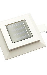 1 stk utendørs 3led husholdning solenergi hage lampe kvadrat solenergi gjerde lys