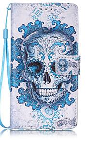 Ganzkörper Brieftasche / Kartenhalter / Flip / Muster Totenkopf PU - Leder Hart Fall-Abdeckung für Huawei Huawei P9 Lite