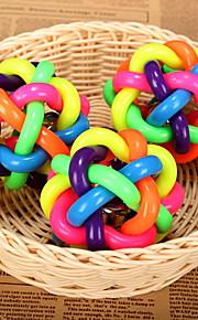 Hunde Haustierspielsachen Kugel / Kau-Spielzeug Trompetenärmel / Flechtball Mehrfarbige Gummi