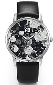 Masculino Relógio Elegante / Relógio de Moda / Relógio de Pulso Quartz Impermeável Couro Legitimo Banda Casual Preta marca