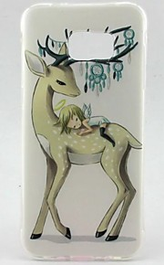 EFORCASE Painted Deer Girl Back TPU Phone Case for Samsung Galaxy S7 edge S7 S6