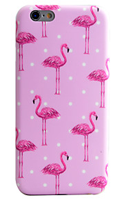 Long Legs Flamingos Pattern IMD Technology Phone Case TPU Material For iPhone 6s 6 Plus