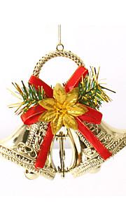dubbla bjällror julgransprydnader krans krans glad xmas klockor hängande dekoration för hem festivalen leveranser