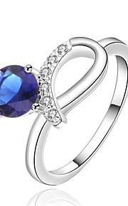 Ringe Bryllup / Party / Daglig / Afslappet Smykker Plastik Dame Ring 1pc,8 Blå