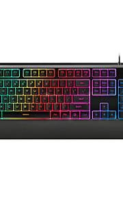 Rapoo gaming tastatur mekanisk kontakt V56 ergonomisk multimedie vandtæt baggrundsbelyst tastatur usb kablede 104keys