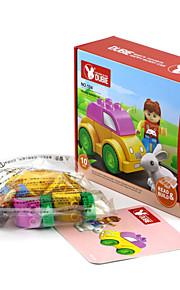 Blocos de Construir para presente Blocos de Construir Rabbit / Carro Plástico acima de 3 Arco-Íris Brinquedos