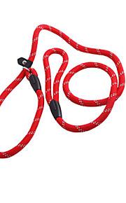 Cat / Dog Leash Adjustable/Retractable Solid Red Nylon