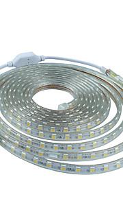 2M  220V Higt Bright LED Light Strip Flexible 5050 120Smd Three Crystal Waterproof Light Bar Garden Lights with EU Power Plug