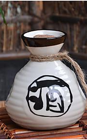 Japanese vintage wine ceramic package Hip flask three-piece suit