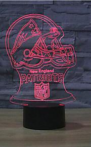 England Patriots berøre dimming 3D LED nattlys 7colorful dekorasjon atmosfære lampe nyhet belysning jul lys