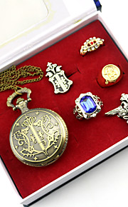 Clock/Watch / Cosplay Accessories Inspired by Black Butler Ciel Phantomhive Anime Cosplay AccessoriesNecklace / Badge / Brooch /6PCS