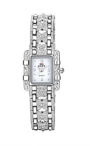 Mulheres Relógio de Moda / Bracele Relógio Quartz Impermeável Lega Banda Pendente / Casual Prata marca