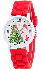 Mulheres Relógio de Moda / Relógio de Pulso Quartz / Silicone Banda Legal / Casual Preta / Branco / Azul / Vermelho / Verde / Rosa / Rose