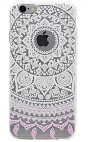 For iPhone 7 etui / iPhone 6 etui / iPhone 5 etui Transparent / Præget / Mønster Etui Bagcover Etui Blomst Blødt TPU AppleiPhone 7 Plus /