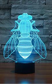 fly berørings dimming 3D LED nattlys 7colorful dekorasjon atmosfære lampe nyhet belysning jul lys