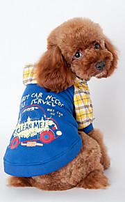 Cani Tuta / Pigiami Arancione / Blu Abbigliamento per cani Inverno / Primavera/Autunno Cartoni animati Divertente /